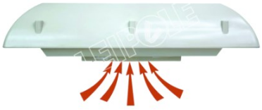 PANEL ROOF EXTRACTOR FAN 456M3/H 230VAC 58W
