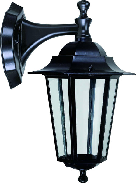 BLACK DIE  CAST WALL MOUNT LIGHT FITTING 60W