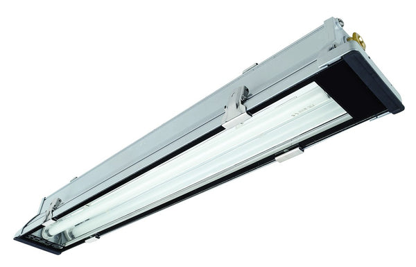 2x36W T8 FLUORESCENT FITTING IP65 1285x150x95