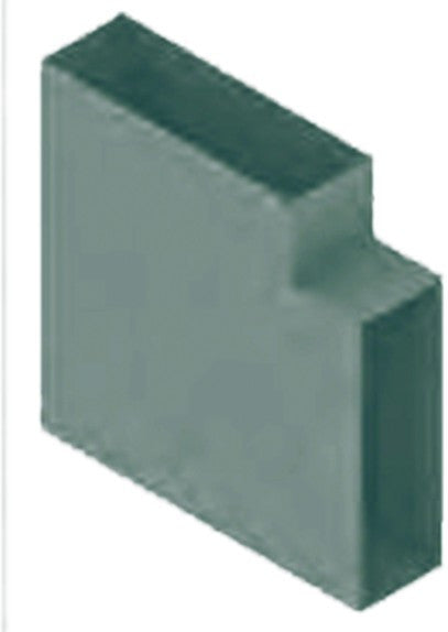 VERTICAL ELBOW DOUBLE COMP. SKIRTING HOSPITAL GREY