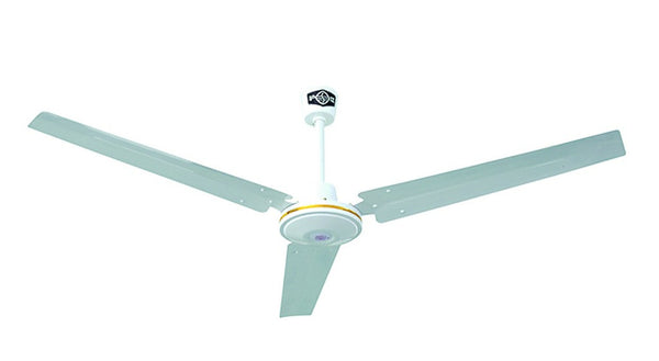 CEILING FAN BLACK 3 BLADE C/W WALL CONT. 1200MM