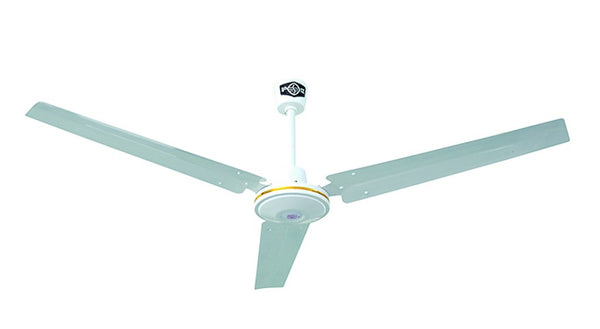 CEILING FAN WHITE 3 BLADE C/W WALL CONT. 1200MM