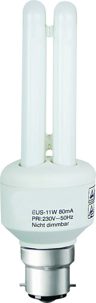 CF LAMP 2U WARM WHITE 230V 7W B22