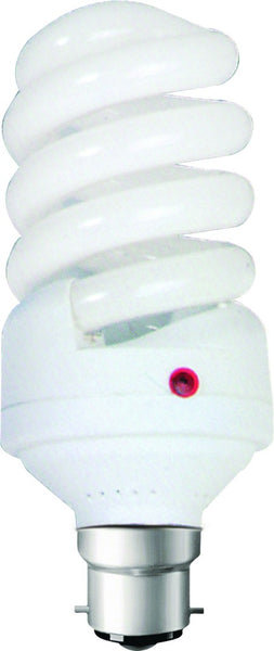 15W CF LAMP B22 WARM WHITE 230VAC WITH DAYLIGHT SENSOR