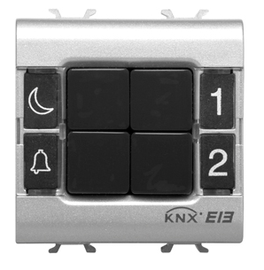 EASY PUSH BUTTON PANEL 4 CHANNEL MODULE WHITE