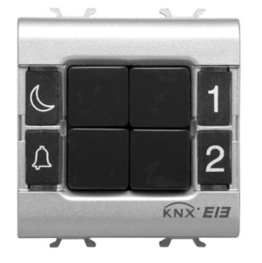 KNX PUSH BUTTON PANEL 4 CHANNEL WHITE