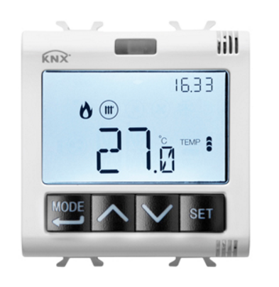 KNX THERMOSTAT WITH HUMMIDITY MANAGEMENT WHITE