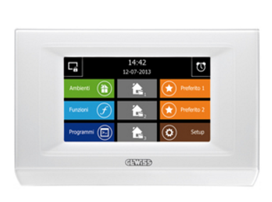 "KNX/EASY NAXOS DOMO 4.3"" TOUCH PANEL ac/dc - 0.5A"