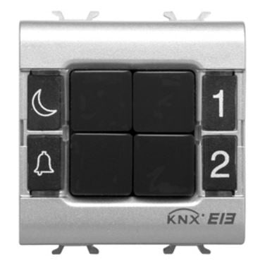 KNX PUSH BUTTON PANEL 4 CHANNEL BLACK