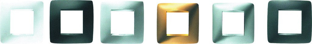 4X4 COVER PLATE 3 + 3  GANG GOLD