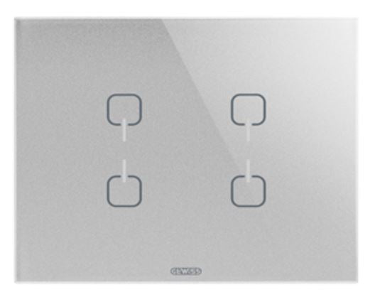 ICE TOUCH KNX 4 SYMBOL TITANIUM - REPLACED BY GW16946CT