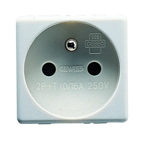 10/16A 2P+E FRENCH SOCKET OUTLET