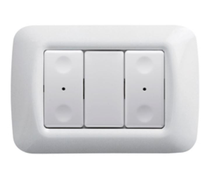 2-CH RF PUSH-BUTTON PANEL WHITE
