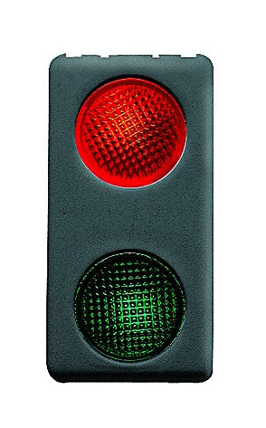 DOUBLE IND. LIGHT-RED/GREEN 12/24V SY/BK