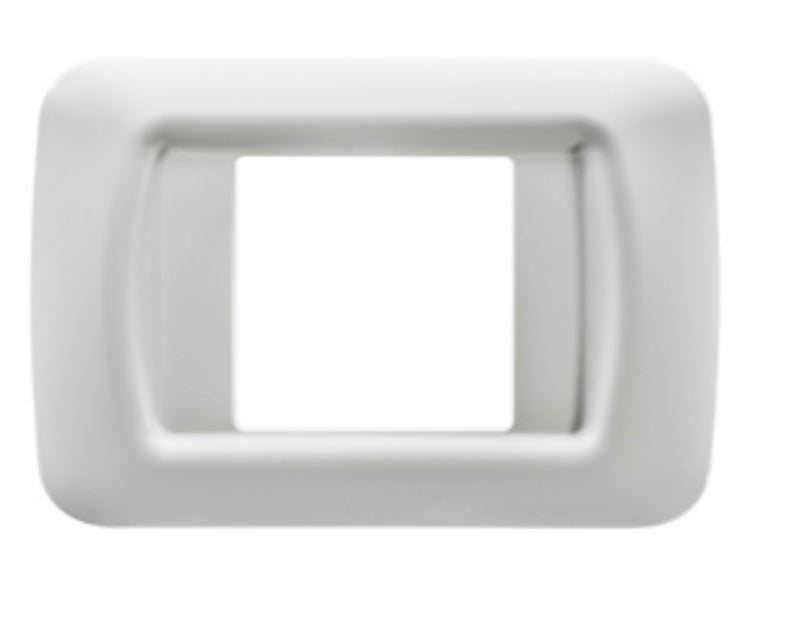 2 GANG WHITE TOP SYSTEM PLATE
