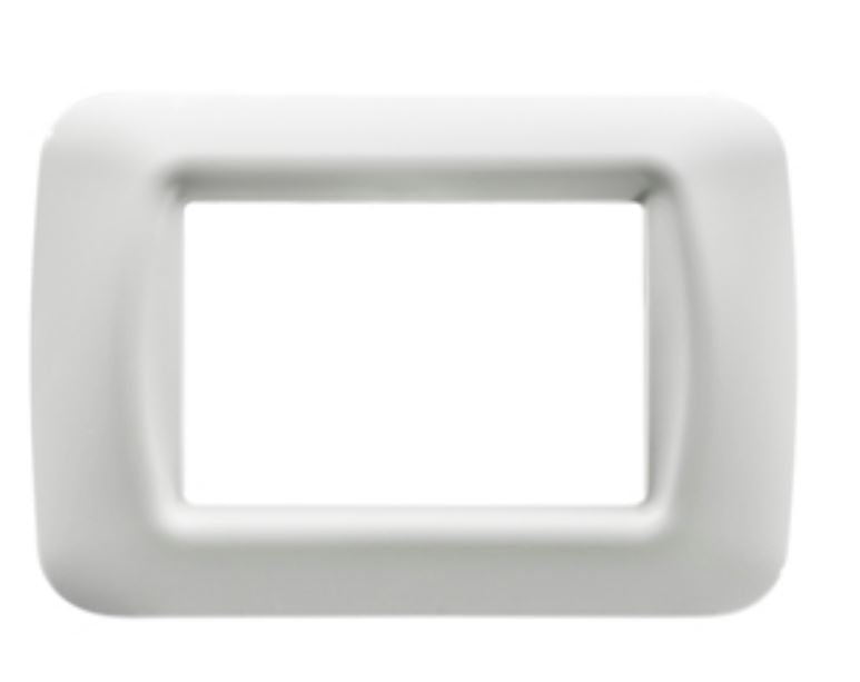 3 GANG WHITE TOP SYSTEM PLATE