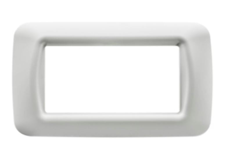 4 GANG WHITE TOP SYSTEM PLATE