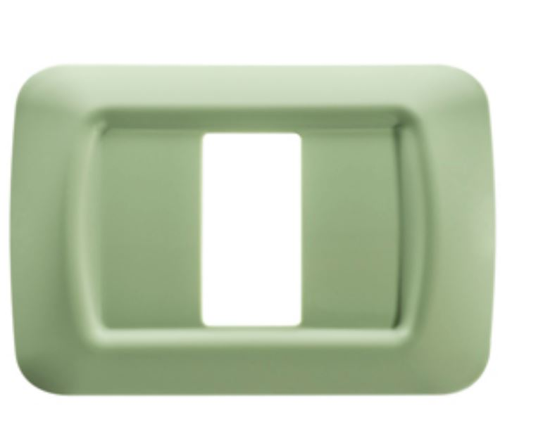 TOP SYSTEM 1-GANG PLATE VENETIAN GREEN