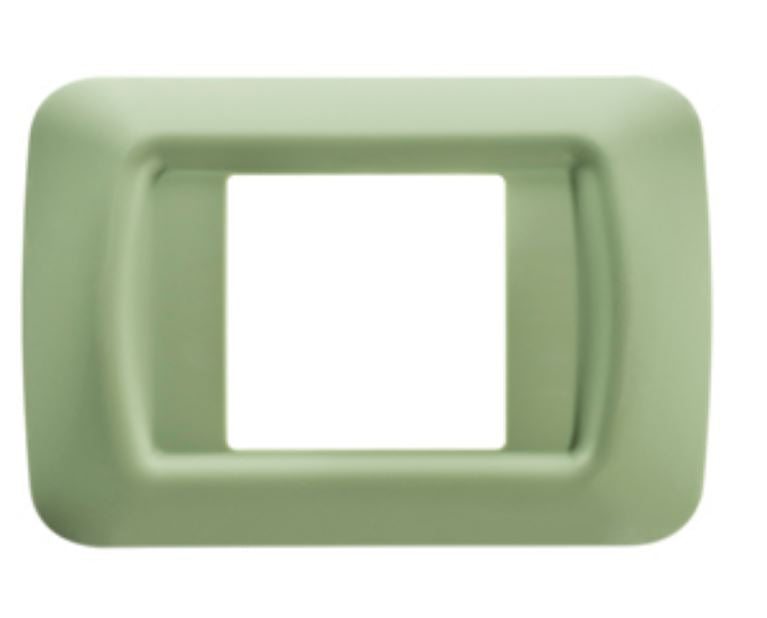 2 GANG GREEN TOP SYSTEM PLATE