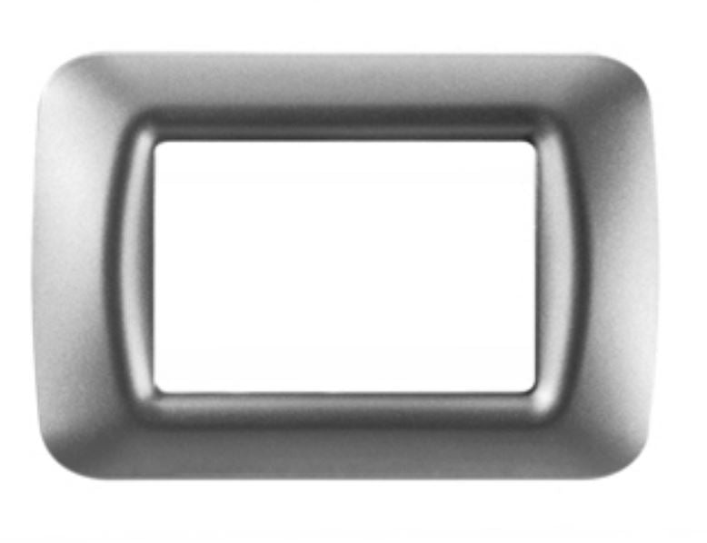 TOP SYSTEM 3 GANG PLATE - METALLIC TITANIUM