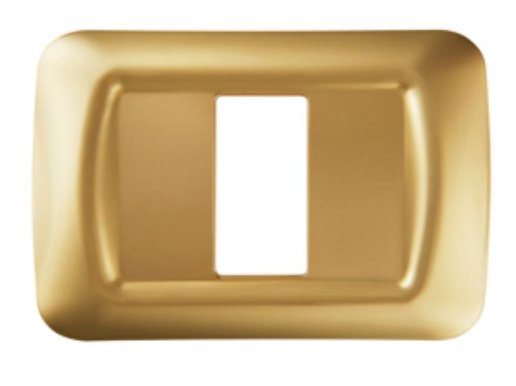 TOP SYSTEM 1 GANG PLATE - ANTIQUE GOLD