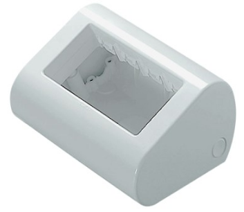 4 GANG WHITE DESKTOP ENCLOSURE