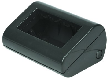 4 GANG TONER BLACK DESKTOP ENCLOSURE