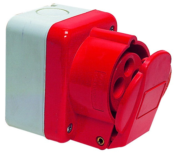 16A 3P+E 400V IEC309 SOCKET OUTLET IP44