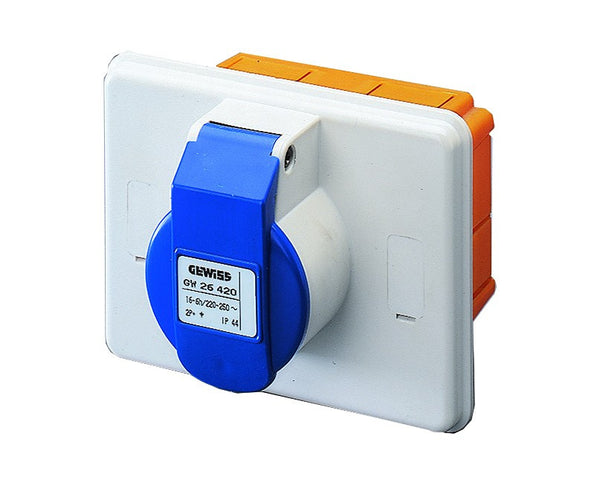 16A 2P+E 230V IP44 SOCKET OUTLET