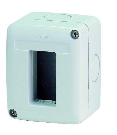 1 GANG HORIZONTAL ENCLOSURE IP40
