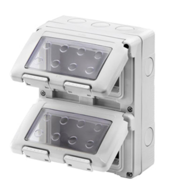 8(2x4) GANG VERTICAL ENCLOSURE IP55