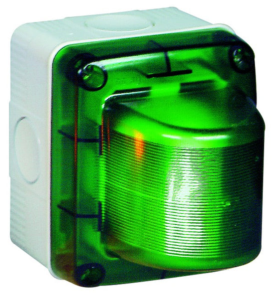 GREEN SURFACE FLASHING 230V LIGHT IP55