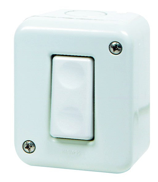 16A 1P 1-WAY SURFACE SWITCH IP40
