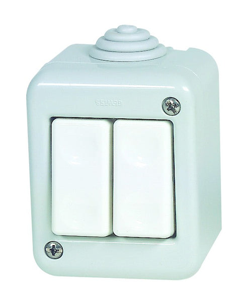 16A 1P 2 LEVER SURFACE MOUNT SWITCH IP40