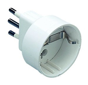16A 2P+E ADAPTOR W. 1 UNEL OUTLET WHITE