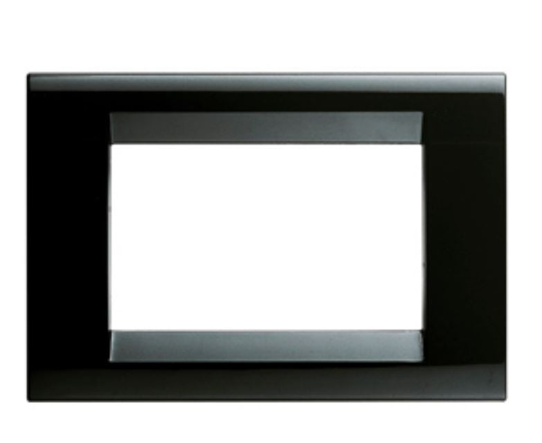 PLAYBUS PLATE 2 GANG BLACK LACQUER