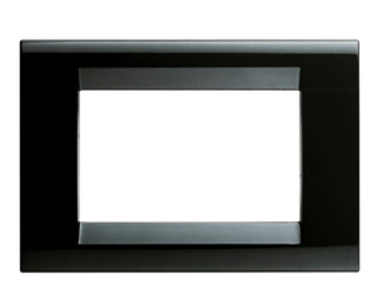 PLAYBUS PLATE 4 GANG BLACK LACQUER