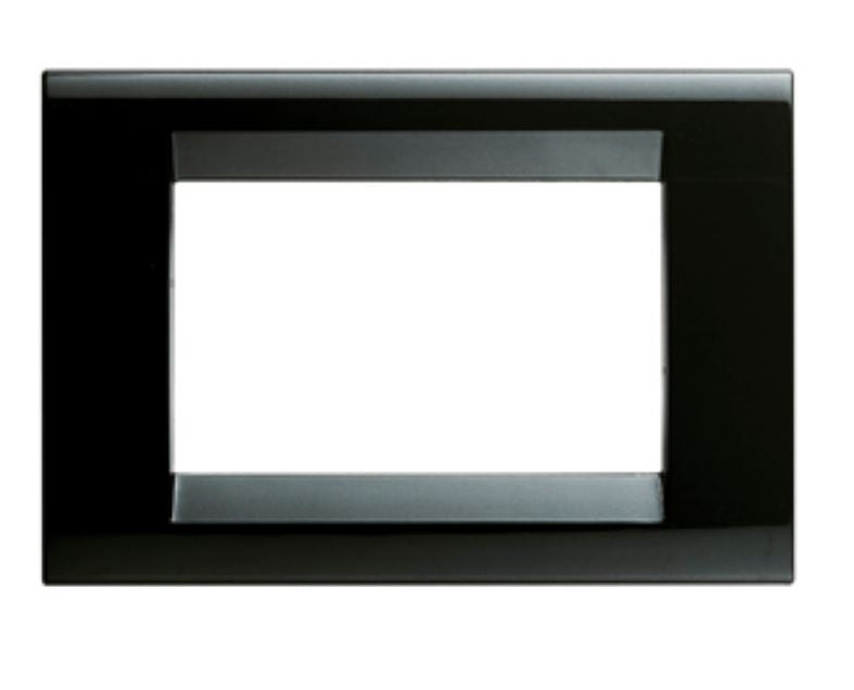 PLAYBUS PLATE 8 GANG BLACK LACQUER