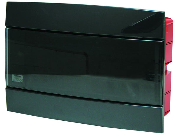 FLUSH DB 1x12M TONER BLACK SMOKED DOOR IP40