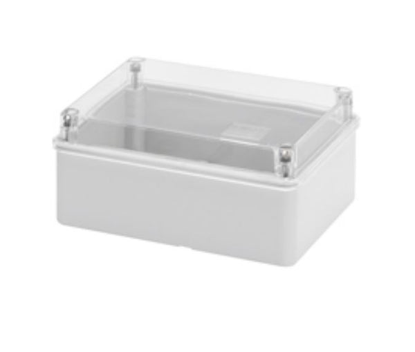 ENCLOSURE CLEAR LID 150x110x70 IP56