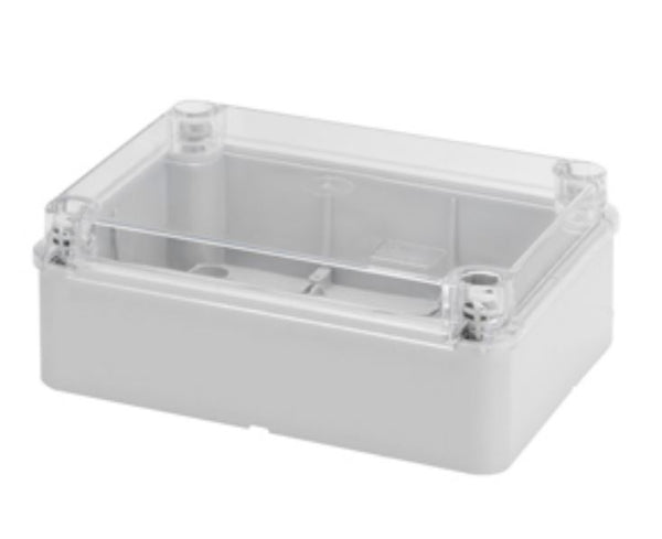 ENCLOSURE CLEAR LID 190x140x70 IP56