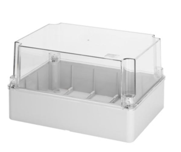 ENCLOSURE CLEAR LID 300x220x180 IP56