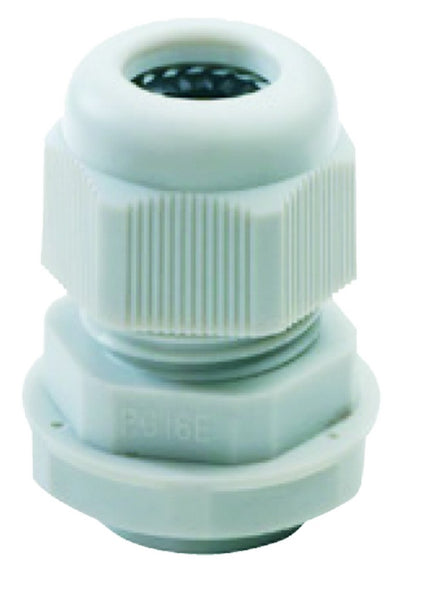 NYLON CABLE GLAND WITH FIXING NUT - PG16 -IP68