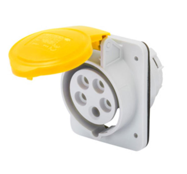 32A 2P+E 110V SW SOCKET OUTLET 4H IP44