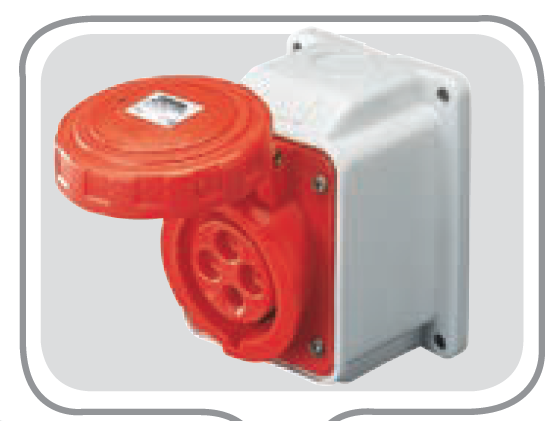 IP67 10°W.RECEPTACLE 3P+E 32A 230V 9H