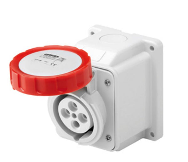 IP67 10°W.RECEPTACLE 2P+E 16A 400V 9H