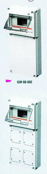 Q-DIN DB 8M PLAIN COVER IP65