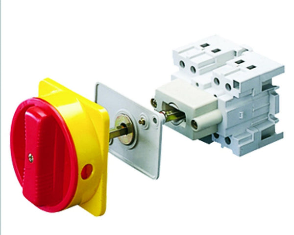 ISOLATOR 2P 32A + RED/YELLOW HANDLE