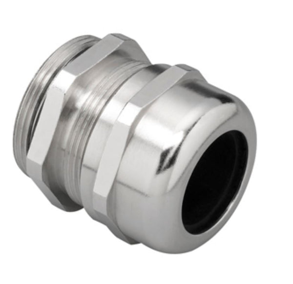PG29 CABLE GLAND NICKEL PLATED BRASS