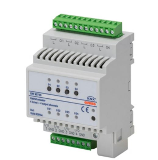 KNX 4 CHANNEL COMBINED ACTUATOR 10A + 4 UNIVERSAL I/O